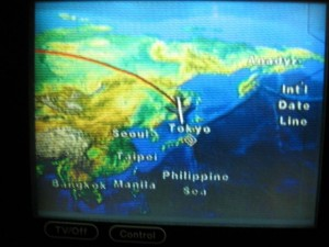 Japonsko - skoro v Tokyu (letadlo)