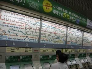 Japonsko - Tokyo - metro, kupujeme listek