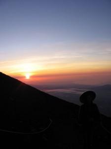 Japonsko - Fuji a vychod slunce